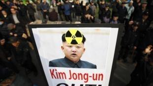 Протест в Южной Корее против планов проведения испытаний ядерного оружия КНДР. Сеул 31/01/2013
