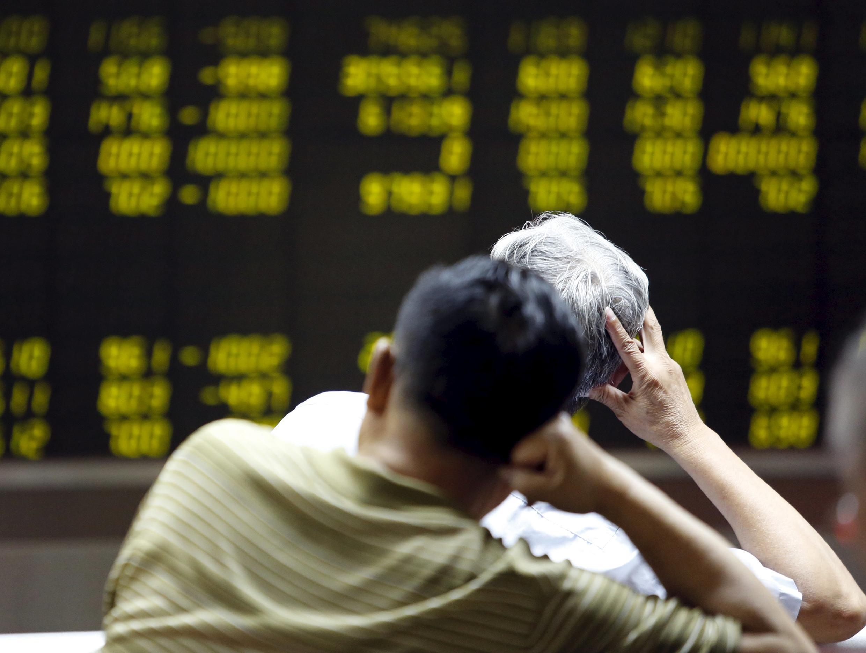 Une salle des marchés de la Bourse de Pékin.