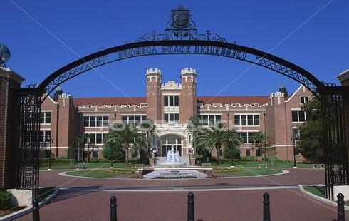 Cổng vào Đại học Florida State University tại thành phố Tallahassee tiểu bang Florida.