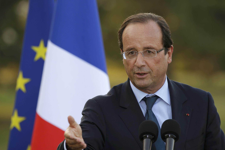Le président français François Hollande, le 7 septembre 2012 à Evian.