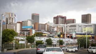 Une vue de Johannesburg, la capitale économique de l'Afrique du Sud. (Photo d'illustration=