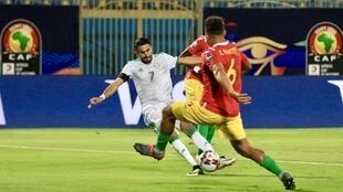 Algeria skipper Riyad Mahrez scored the second of his side's three goals in the victory over Guinea.
