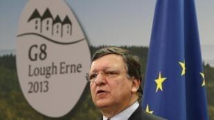 José Manuel Barroso, le 17 juin à Enniskillen lors du sommet du G8.