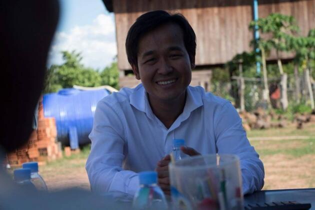 លោក សុង សារ៉ន អគ្គនាយកក្រុមហ៊ុន AMRU Rice Cambodia