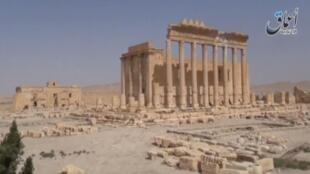 Phế tích ngôi đền cổ Bel ở Palmyra, Syria còn lại sau các trận đánh. Ảnh chụp ngày 24/03/2016.