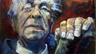 """پرتره """"خورخه لوئیس بورخس""""، نویسنده و شاعر آرژانتینی"""