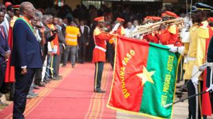 Le président du Burkina Faso, Roch Marc Christian Kabore, lors de son investiture, le 29 décembre 2015.