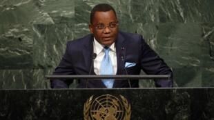 Jean-Claude Gakosso, s'adressant à l'ONU, le 25 septembre 2015.