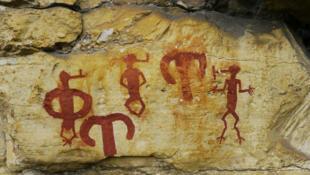 L'art rupestre du massif de Lovo, dans le bas-Congo.