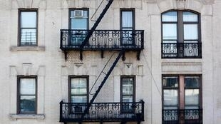 A typical Harlem apartment building