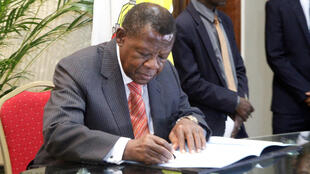 L'ancien porte-parole du gouvernement, Lambert Mendé, le 31 décembre 2016.