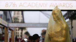 Neste sábado, últimos preparativos para a entrega do Oscar ocorreram no Dolby Theater.