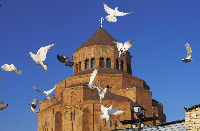 کلیسای شهر استپاناکرت، مرکز قره باغ