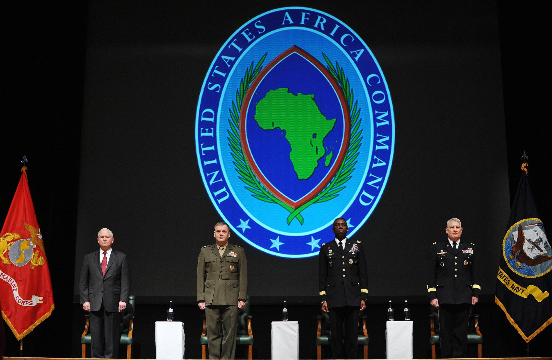 Une cérémonie de l'Africom, le 9 mars 2011 à Sindelfingen, près de Stuttgart, en Allemagne.