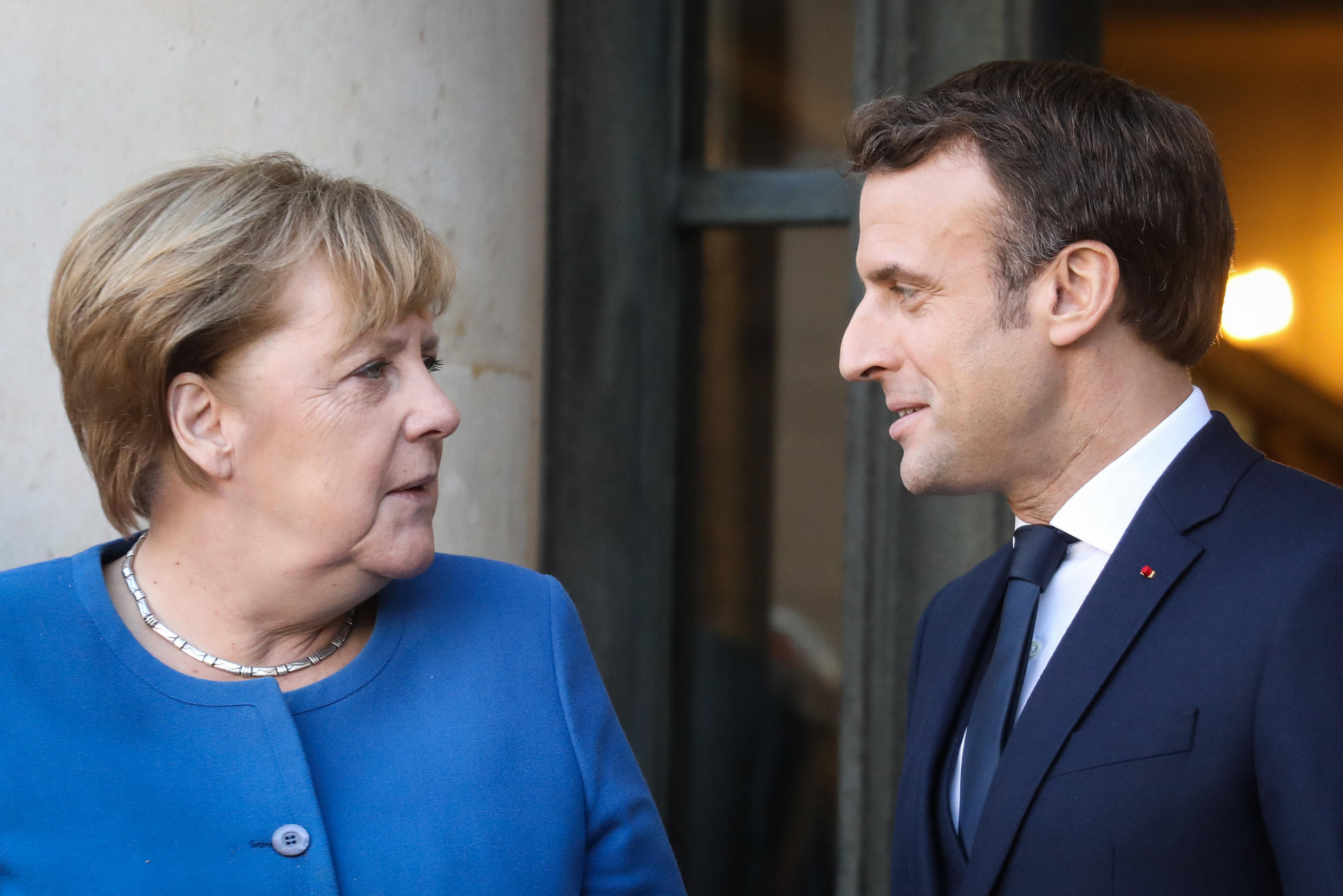 German Chancellor Angela Merkel and France's Emmanuel Macron will meet on Monday with some weighty issue at stake