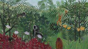 'Bosque tropical con monos', Henri Rousseau.