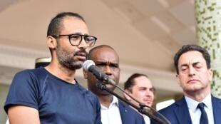 Ex-refém francês libertado, Laurent Lassimouillas, recebido pelo Presidente do Burkina Faso, este sábado, 11 de maio de 11 maio de 2019.