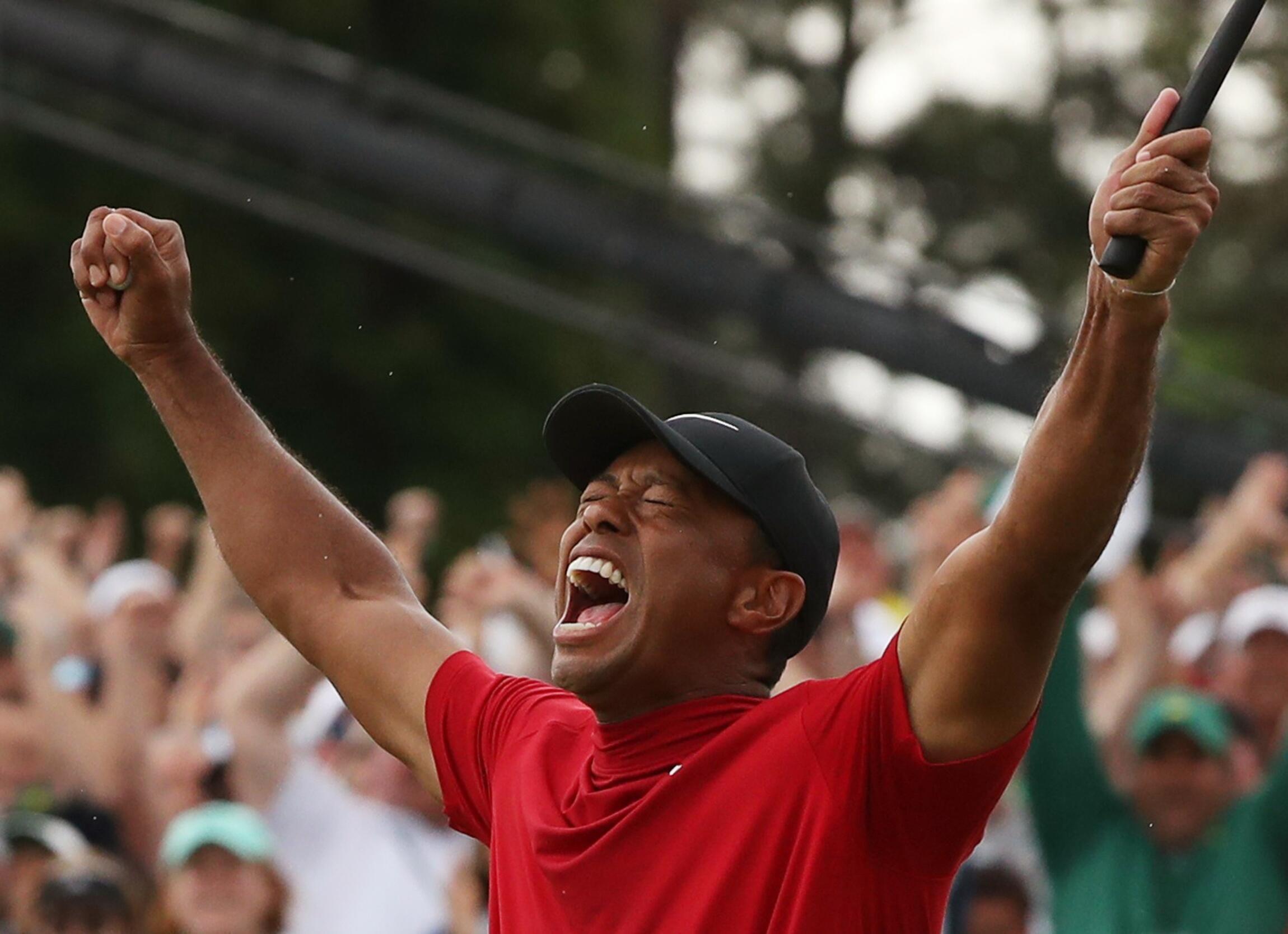 « C'est surréaliste, je ne peux pas être plus heureux. » Tiger Woods