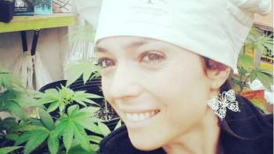 A chef argentina Natalia Revelant, cujos pratos à base de maconha foram assunto de várias matérias da imprensa francesa esta semana.