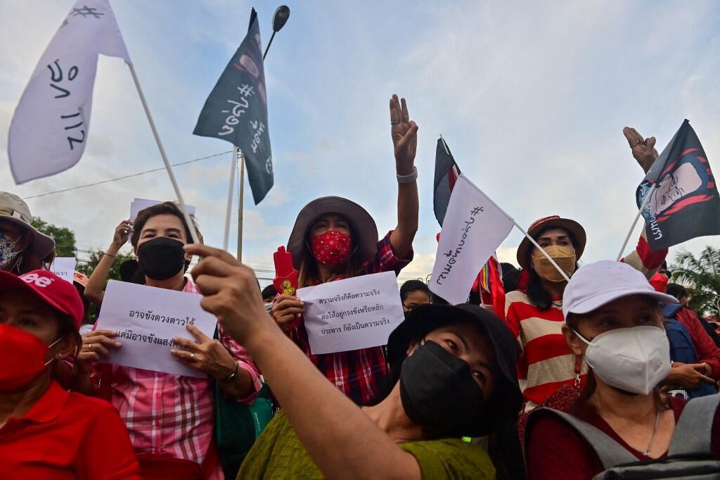 Thaïlande - manifestants pro-democrates