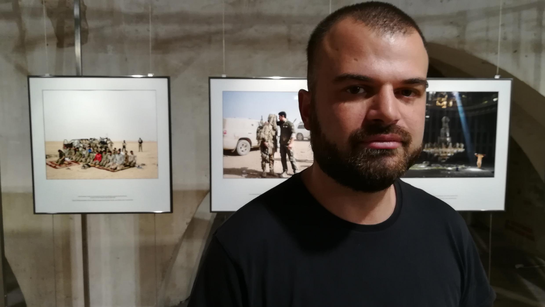 Le photoreporter Lorenzo Meloni à Visa pour l'image.