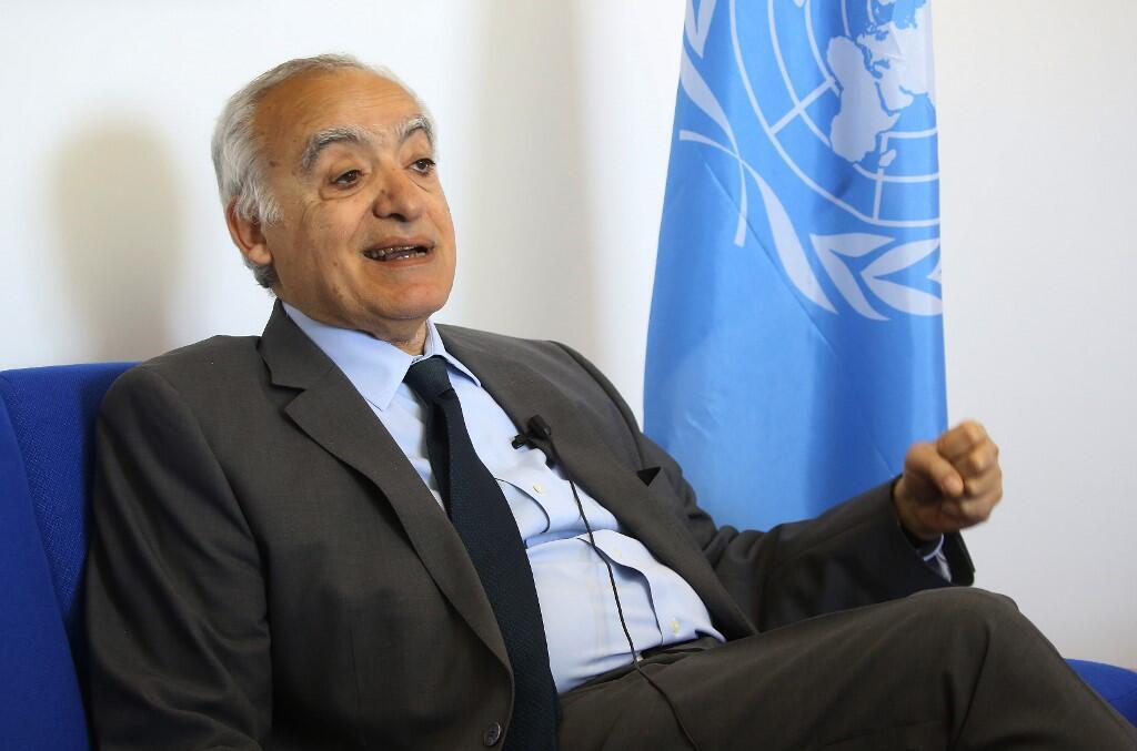 L'envoyé spécial de l'ONU en Libye, Ghassan Salamé, le 18 avril 2019.