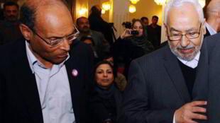 ملاقات منصف مزروقی- رئیس جمهوری تونس با راشد قنوشی- رهبر حزب النهضت