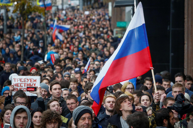 Акция в поддержку Навального в Москве 7 октября 2017
