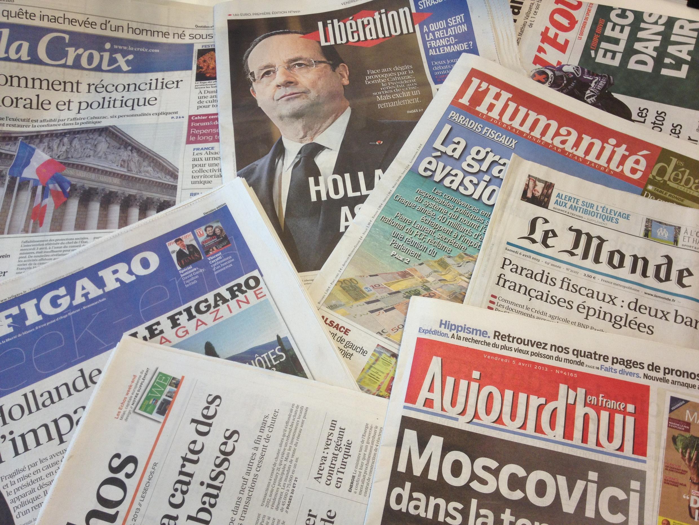 Primeiras páginas dos diários franceses 5/4/2013