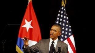 Presidente Barack Obama faz discurso histórico no Grande Teatro de Havana.
