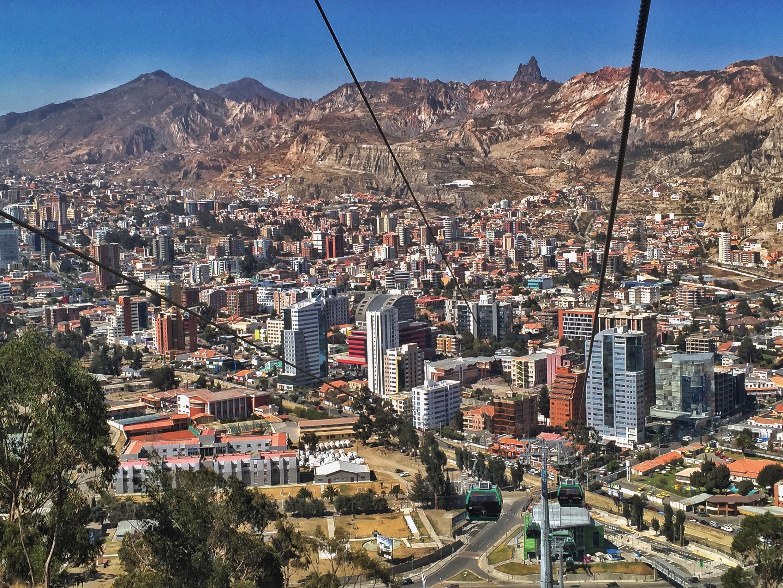 Vue de La Paz, Bolivie.