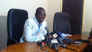 Gilbert Bawara, ministre togolais de la Fonction publique et du Travail.