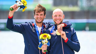 Le duo français Hugo Boucheron-Matthieu Androdias sacré en deux de couple aux Jeux de Tokyo, le 28 juillet 2021