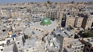 Vista general de la destrucción de la ciudad de Alepo, en octubre 2016.