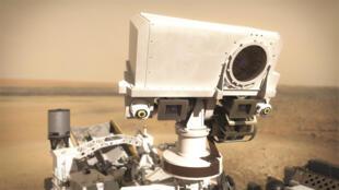 Imagen proporcionada por el Centro Nacional de Estudios Espaciales de SuperCam, desarrollado por Francia, uno de los instrumentos científicos del explorador marciano Perseverance