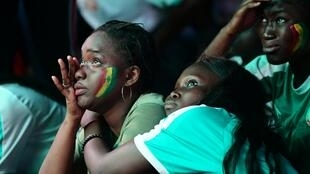 Senegal fans dejected in Dakar after losing to Algeria in the ACFON final, 19 July 2019.
