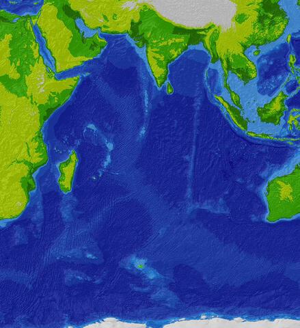 El océano Índico.