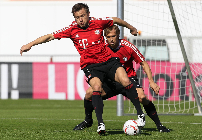 Treino da equipe do Bayern de Munique nesta segunda-feira, 04 de outubro.