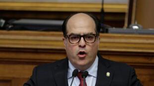 Julio Borges, le nouveau président de l'Assemblée nationale vénézuelienne.