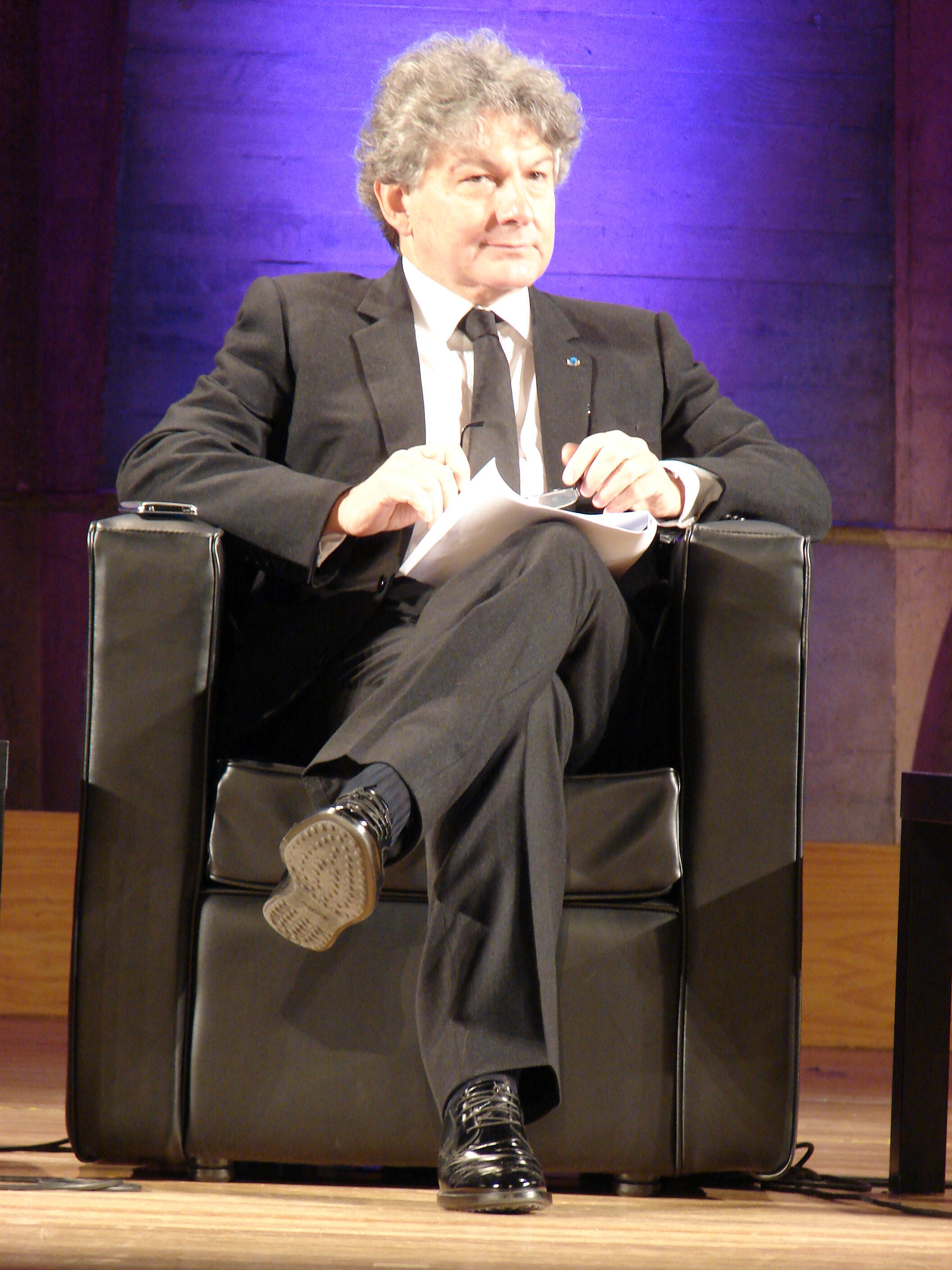 Thierry Breton served as economy minister under late president Jacques Chirac