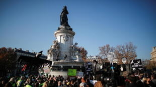 Manifestation sécurité globale Paris république