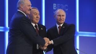 Ba nước thành viên của Liên hiệp kinh tế Á - Âu: Nga, Belarus và Kazhakhstan.