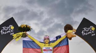 Tadej Pogacar celebrates his remarkable Tour de France triumph
