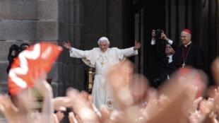 O papa Bento 16 nesta sexta-feira, 19/08/2011, em Madri.