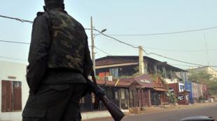 Etablissement La Terrasse, à Bamako, dans la journée du 7 mars 2015 au lendemain de l'attaque.