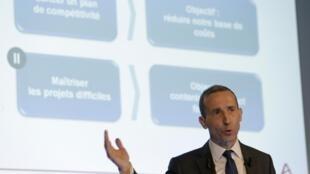 Areva boss Philippe Knoche announces the company's losses on 4 March