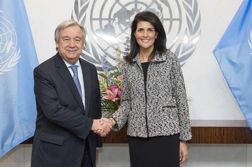 លោកស្រី Nikki Haley និងលោកអគ្គលេខាធិការអង្គការសហប្រជាជាតិ António Guterres ចង់នាំមេដឹកនាំយោធាភូមាទៅកាត់ទៅស