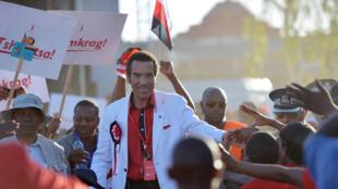 Le président Ian Khama lors de sa campagne électorale. Botswana, le 24 octobre 2014.