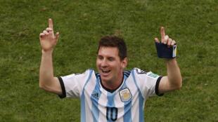 Lionel Messi celebra el pase a semifinales, primera vez para al Albiceleste desde 1990. REUTERS/David Gray