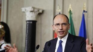 Enrico Letta, après sa nomination, le 24 avril 2013.
